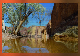 Ocre Pits Northern Territory A1 - Metal Print 841mm X 594mm With Hanger